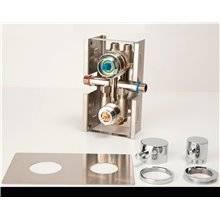 Conjunto empotrado cuadrado termostático de GME