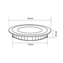 Placa LED circular ultrafina Ø8'5x2cm 3W