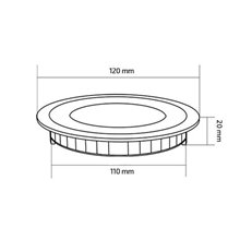 Placa LED circular ultrafina Ø12x2cm 6W