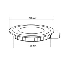 Placa LED circular ultrafina Ø14'6x2cm 9W