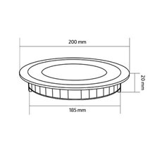 Placa LED circular ultrafina Ø20x2cm 15W