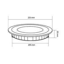 Placa LED circular ultrafina Ø22'5x2cm 18W