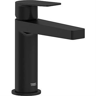 Grifo monomando de lavabo negro maneta PROJECT-TRES