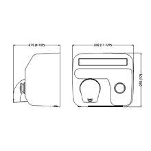 Secamanos 6mm manual 2250W Saniflow Mediclinics