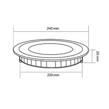 Placa LED circular ultrafina Ø24x2cm 20W