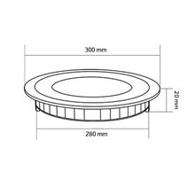 Placa LED circular ultrafina Ø30x2cm 24W