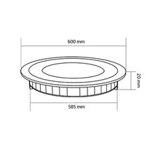 Placa LED circular ultrafina Ø60x2cm 48W