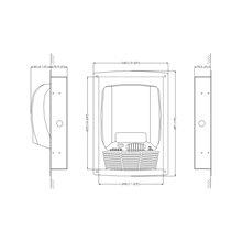 Estructura para secamanos en blanco Mediflow Mediclinics