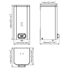 Dispensador jabón 1,5L negro pulsador Mediclinics