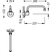 Caño de cocina tubo giratorio TRES Selection