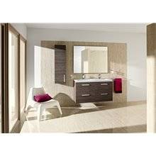 Pack mueble 120cm dos cajones blanco-fresno Prisma Roca