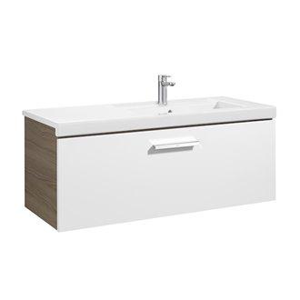 Mueble 110cm un cajón blanco-fresno Prisma Roca