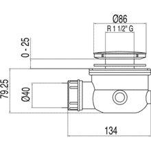 Válvula desagüe sifónico para plato de ducha Ø86 TRES