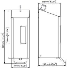 Dispensador jabón 0,6L gris palanca Mediclinics