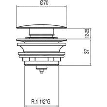 Válvula para bañera  Ø70 TRES