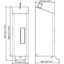 Dispensador jabón 1,2L gris palanca Mediclinics
