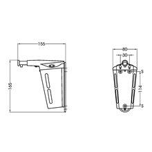 Dispensador jabón 0,35L pulsador Mediclinics