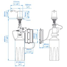 Dispensador jabón 1,6L automático Mediclinics