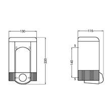 Dispensador jabón 1,2L blanco pulsador Mediclinics