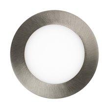 Placa LED circular ultrafina Ø12x2cm 6W plata