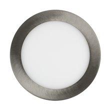 Placa LED circular ultrafina Ø17x2cm 12W plata