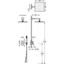 Kit de ducha monomando acero PROJECT TRES