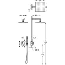 Kit de ducha monomando blanco PROJECT TRES