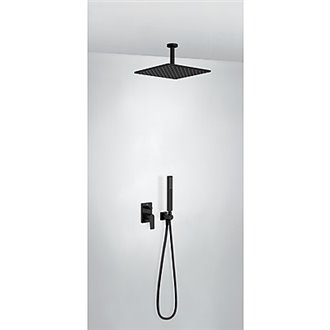 Kit de ducha monomando negro 80 PROJECT TRES