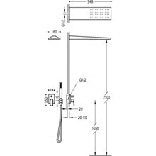 Kit de ducha monomando negro 92 PROJECT TRES