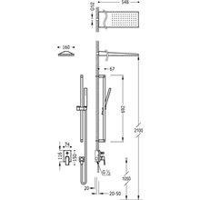 Kit de ducha monomando en acero 93 PROJECT TRES