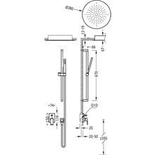 Kit de ducha monomando empotrado 94 PROJECT TRES