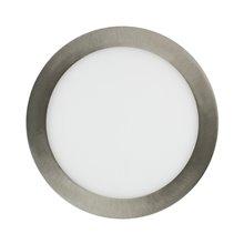 Placa LED circular ultrafina Ø20x2cm 15W plata