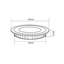 Placa LED circular ultrafina Ø12x2cm 6W negro