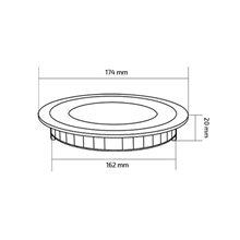 Placa LED circular ultrafina Ø17x2cm 12W negro