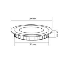 Placa LED circular ultrafina Ø20x2cm 15W negro