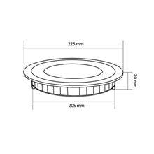 Placa LED circular ultrafina Ø22'5x2cm 18W negro