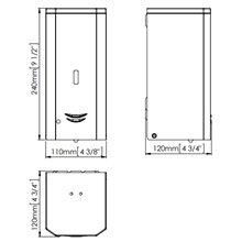 Dispensador jabón 1L negro automático Mediclinics