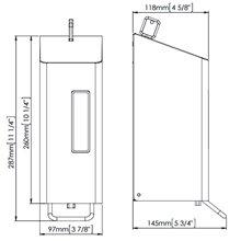 Dispensador espuma 0,6L gris palanca Mediclinics