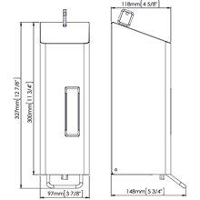 Dispensador espuma 1,2L blanco palanca Mediclinics
