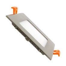 Placa LED cuadrada ultrafina 12x12cm 6W plata