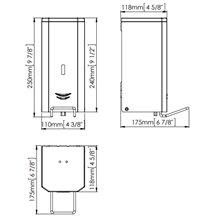Dispensador espuma 1,5L negro palanca Mediclinics
