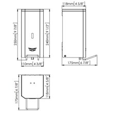 Dispensador jabón 1,5L negro palanca Mediclinics
