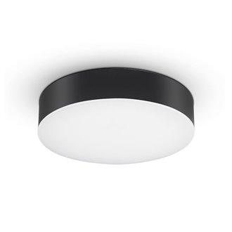 Plafón LED redondo IP65 Ø32x6cm 21W negro