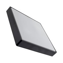 Plafón LED cuadrado IP65 40x40x9cm negro