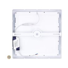 Plafón LED techo cuadrado 30x30x4cm 24W blanco