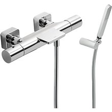 Kit bañera-ducha termostática TRES LOFT Cromado