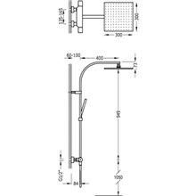 Columna de ducha termostática PROJECT-TRES