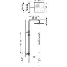 Columna de ducha termostática telescópica PROJECT-TRES