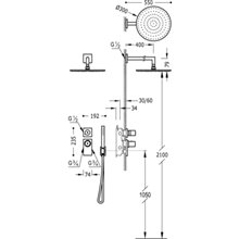 Kit de ducha termostático empotrado negro PROJECT TRES