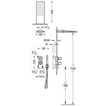 Kit de ducha termostático acero empotrado 02 PROJECT TRES